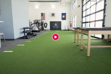 thumbnail image of a video highlighting the interior space of the build physio gym and physical therapy clinic in Bozeman Montana