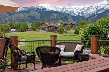 Photography of Log Frame Homes Montana