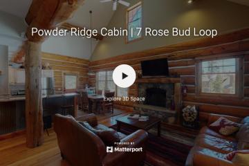 Saul Creative - Powder Ridge Cabin 7 Rose Bud Loop - Michael Thomas - PureWest Christies Big Sky Montana - Matterport 3D Virtual Tour Provider Montana