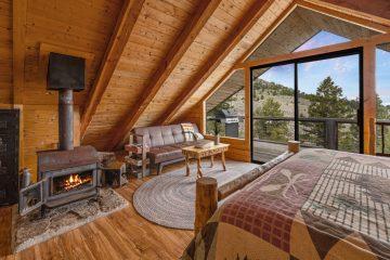 Bozeman Montana A-Frame Cabin - Saul Creative Real Estate Photographer
